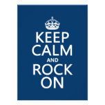 Keep Calm and Rock On (any background color) Invitation