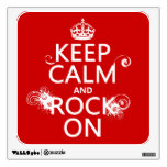Keep Calm and Rock On (any background color) Wall Skins