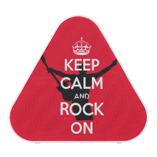 Keep Calm and Rock On Awesome Party on Speaker