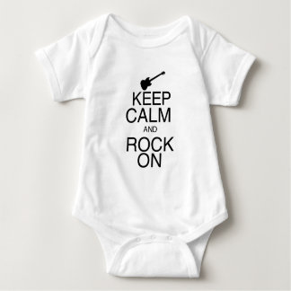 Keep Calm and Rock On Baby Bodysuit