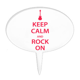 Keep Calm and Rock On! Cake Topper