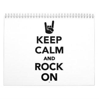 Keep calm and Rock on Calendar