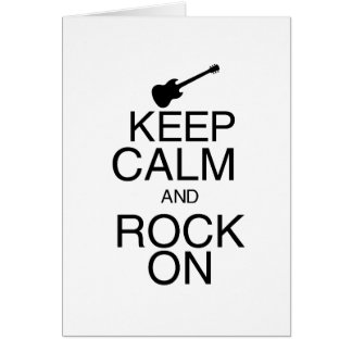 Keep Calm and Rock On Card