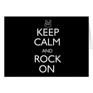 Keep Calm and Rock On Card