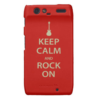 Keep Calm and Rock On! Droid RAZR Cover