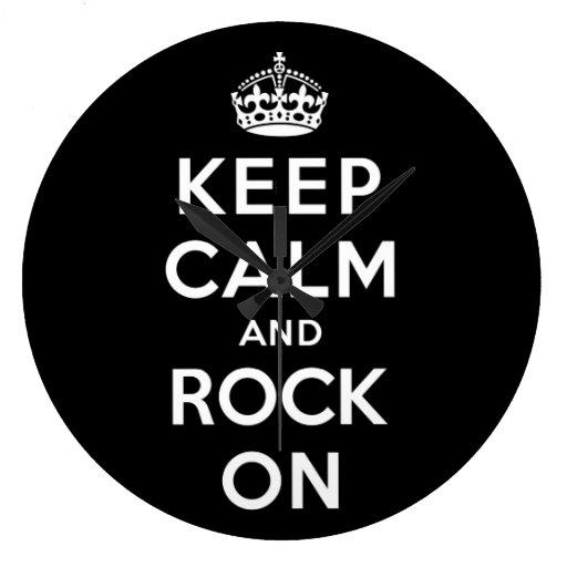 Keep Calm and Rock On Clock