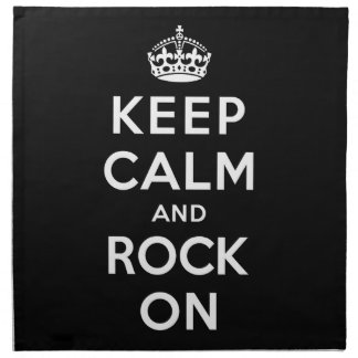 Keep Calm and Rock On Cloth Napkin