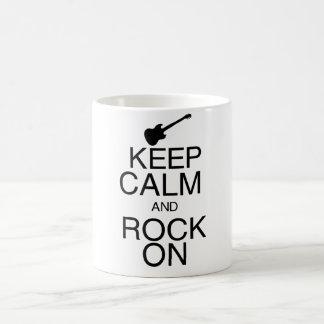 Keep Calm and Rock On Coffee Mug