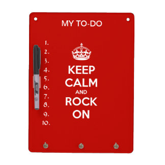 Keep Calm and Rock On Dry-Erase Board