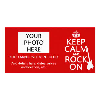 Keep Calm and Rock On (guitar)(any color) Card