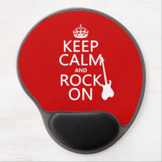 Keep Calm and Rock On (guitar)(any color) Gel Mousepads