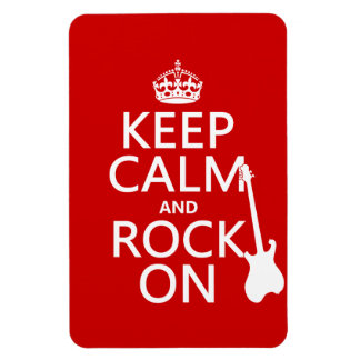 Keep Calm and Rock On (guitar)(any color) Magnet
