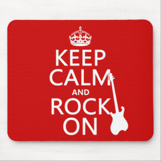 Keep Calm and Rock On (guitar)(any color) Mousepad