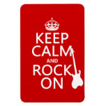 Keep Calm and Rock On (guitar)(any color) Flexible Magnet