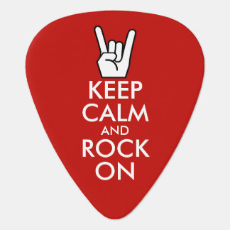 Keep Calm And Rock On Guitar Pick
