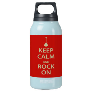 Keep Calm and Rock On! Insulated Water Bottle