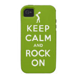 Keep calm and rock on iPhone 4/4S cases