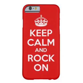 Keep Calm and Rock On iPhone 6 case
