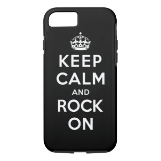 Keep Calm and Rock On iPhone 7 Case