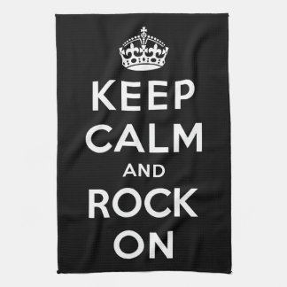 Keep Calm and Rock On Kitchen Towel