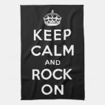 Keep Calm and Rock On Kitchen Towels