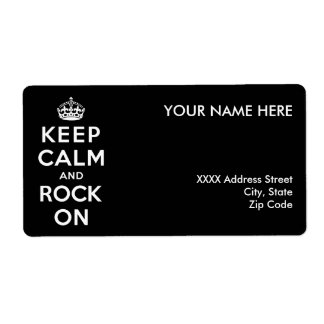 Keep Calm and Rock On Label
