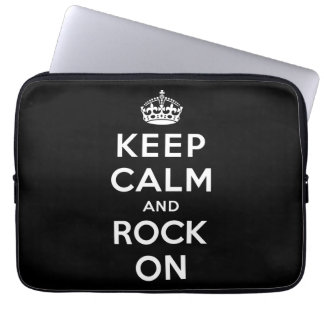 Keep Calm and Rock On Laptop Sleeves
