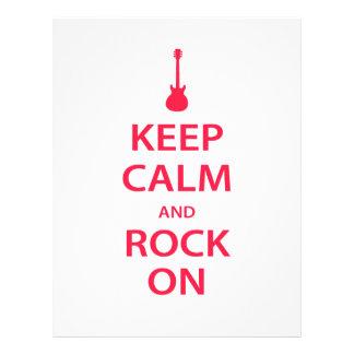 Keep Calm and Rock On! Letterhead