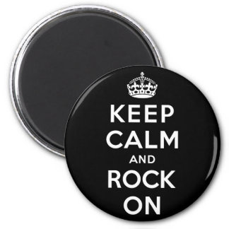 Keep Calm and Rock On Magnets