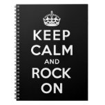 Keep Calm and Rock On Note Book
