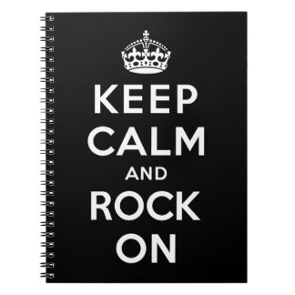Keep Calm and Rock On Spiral Note Books