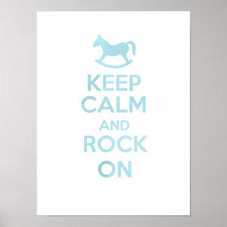 Keep calm and Rock on Nursery art Poster