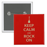 Keep Calm and Rock On! Pin