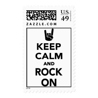 Keep calm and Rock on Postage