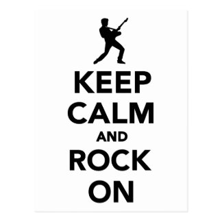 Keep calm and Rock on Post Card