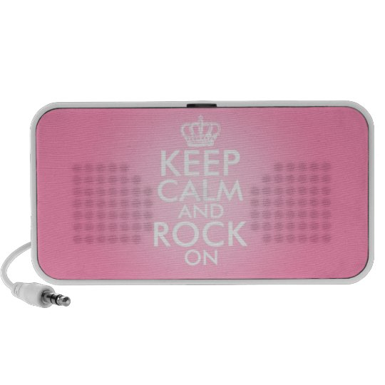 Keep Calm And Rock On Speaker