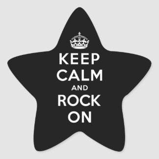Keep Calm and Rock On Star Sticker