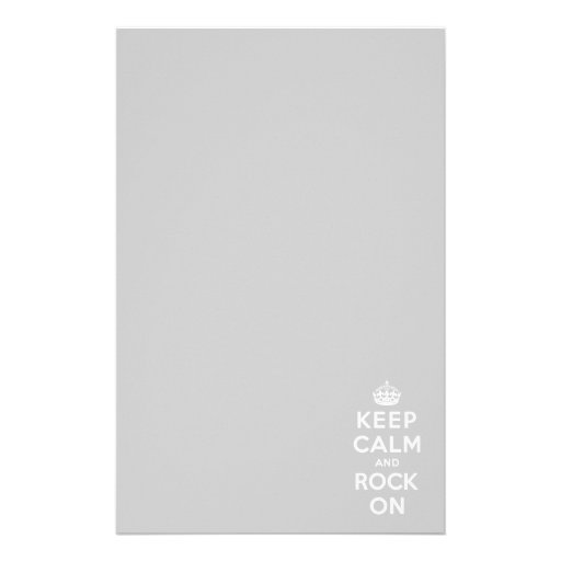 Keep Calm and Rock On Stationery