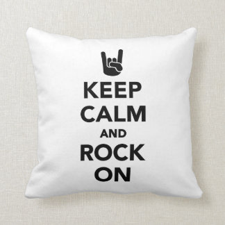 Keep calm and Rock on Throw Pillow