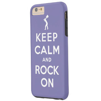 Keep calm and rock on tough iPhone 6 plus case