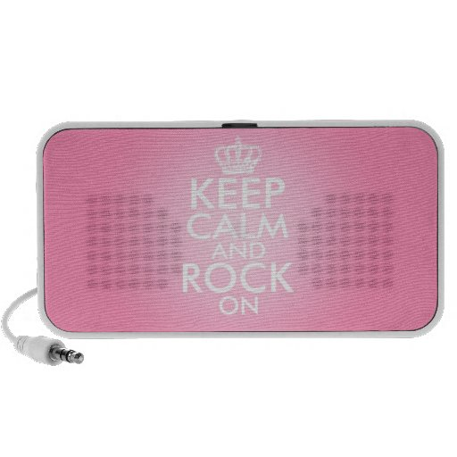 Keep Calm And Rock On Travelling Speaker