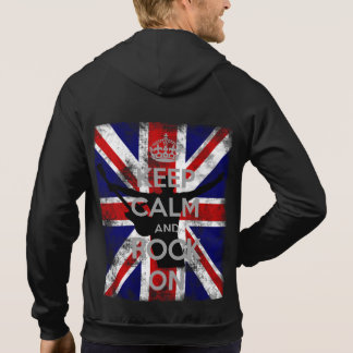 Keep Calm and Rock On Union Jack Hoodie