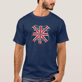 Keep calm and rock on united kingdom flag T-Shirt