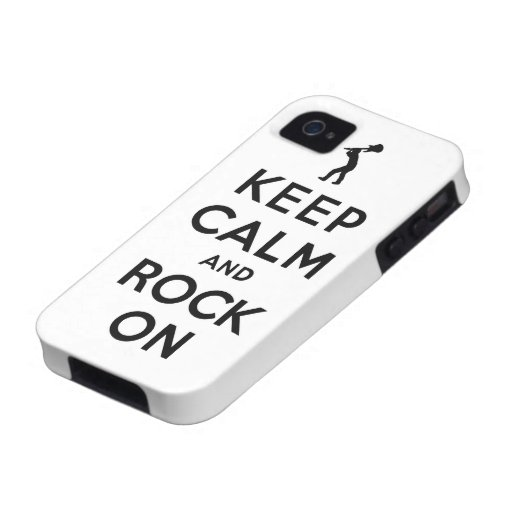 Keep calm and rock on vibe iPhone 4 case