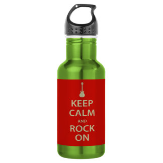Keep Calm and Rock On! Water Bottle