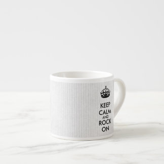 Keep Calm and Rock On White Kraft Paper Espresso Cup