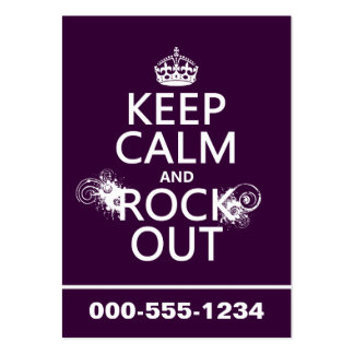 Keep Calm and Rock Out (any background color) Large Business Cards (Pack Of 100)