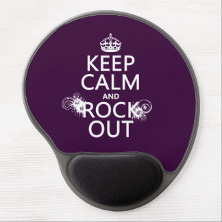 Keep Calm and Rock Out (any background color) Gel Mouse Pads