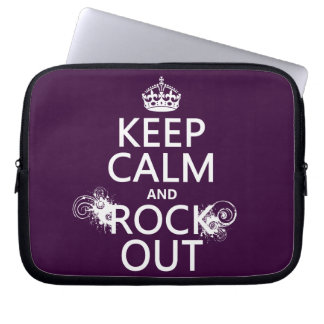 Keep Calm and Rock Out (any background color) Laptop Sleeve