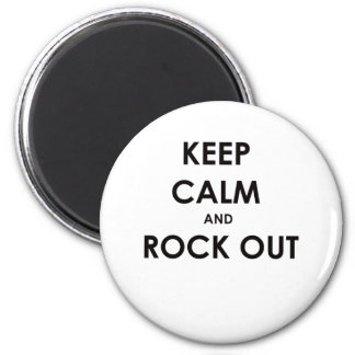 Keep calm and rock out! magnet
